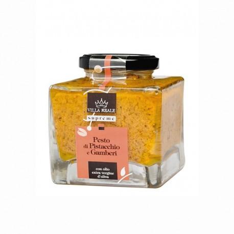 Pesto di pistacchio e gamberi