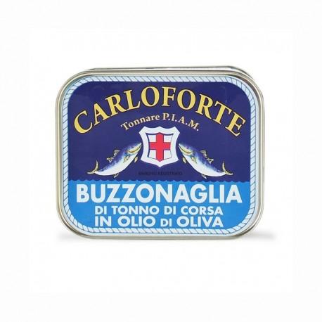 Buzzonaglia di tonno di corsa in olio di oliva Carloforte