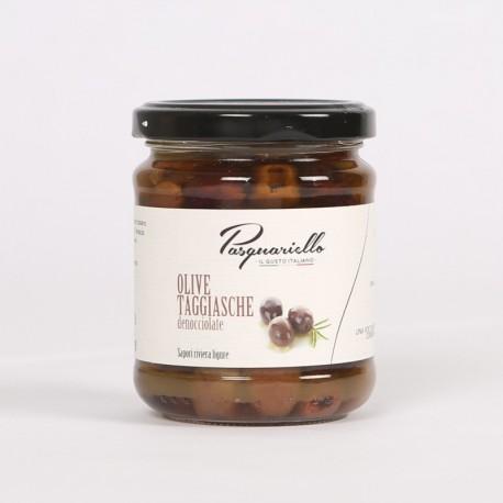 Olive taggiasche denocciolate in olio extra vergine